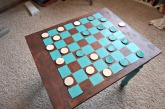 My checkerboard table - diy to be featured in an upcoming blog post!